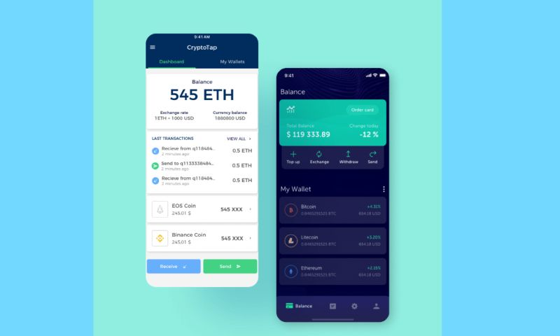 S-PRO - Mobile app for cryptocurrency payments and investments