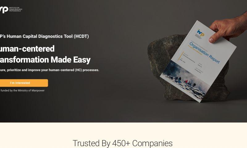 Plexial - IHRP's Human Capital Diagnostics Tool (HCDT) Page Revamp