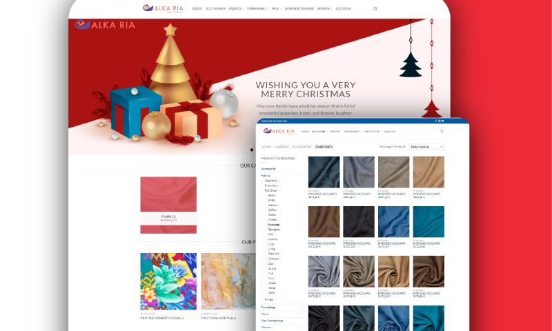 Rozzario Digital Agency - Alka Ria Fabric Wholesale Store Development