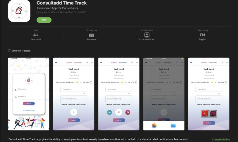 Consultadd Inc - Time Sheet Application