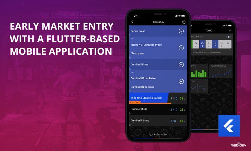 MobiDev - Flutter based cross-platform fitness application development