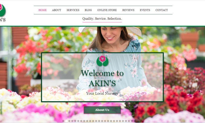 iTester Web Designs - Akin's Nursery & Landscaping