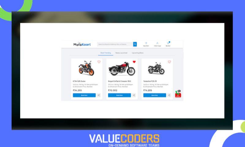 ValueCoders - Online Store For Motorbikes