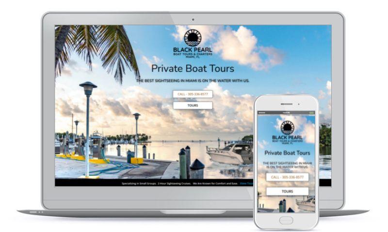 Springs Small Business Marketing - Black Pearl Boat Charters Miami, FL
