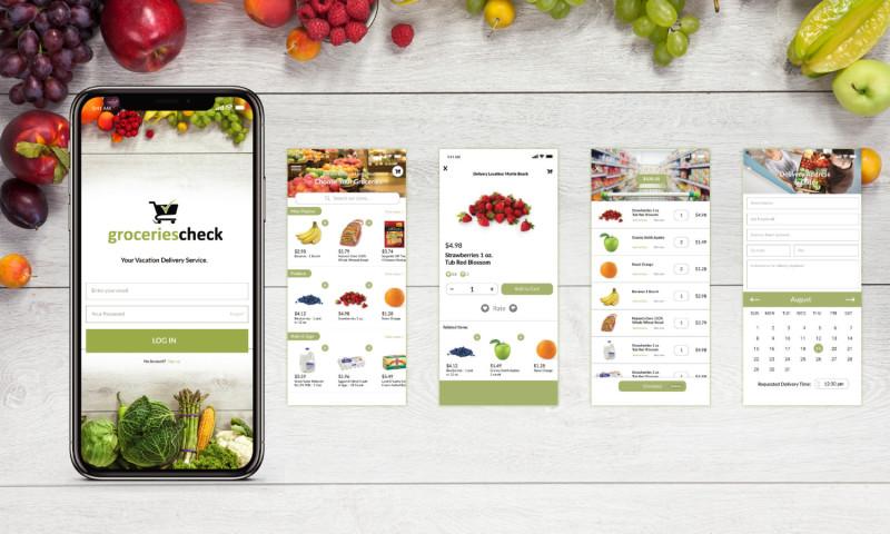 Chadwick Creative - Groceries Check UI/UX Design