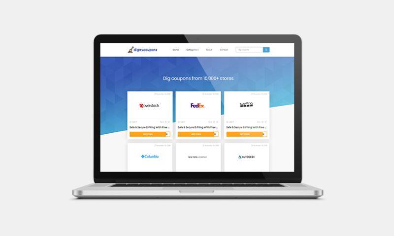 Graphiters - Coupon Finder Website development services