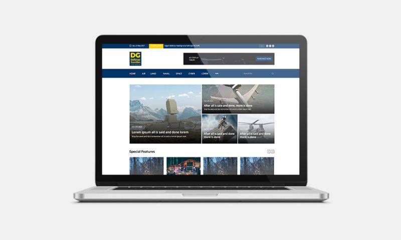 Graphiters - Defense Magazine Website Development