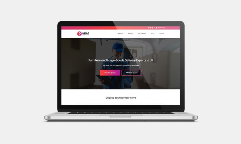 Graphiters - Website Development for Furniture & Goods Delivery Company
