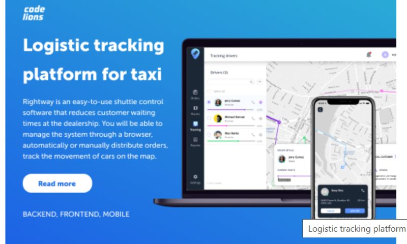 CodeLions - Logistic tracking platform for taxi