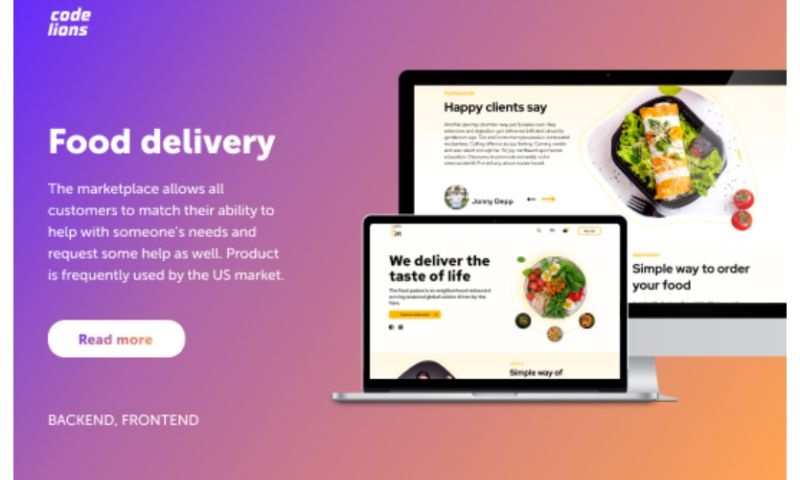 CodeLions - Food delivery