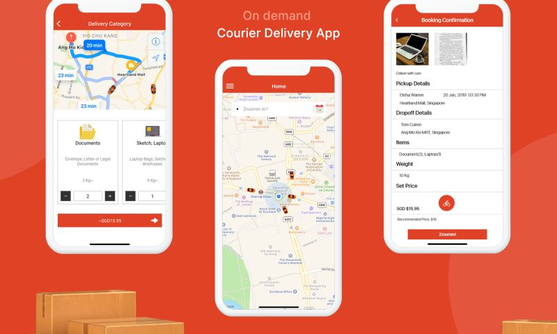 WebMob Technologies - On Demand Courier Delivery App Like Uber