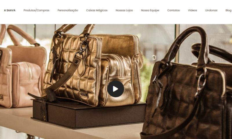 Agência Digital HGX Criação de Sites e Marketing Digital - Criação do site SAAVA BAGS