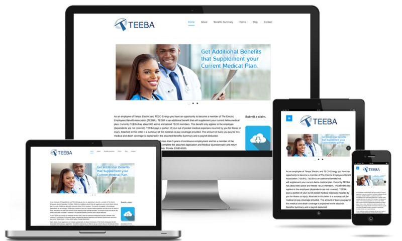 Nick France Design - TEEBA website design