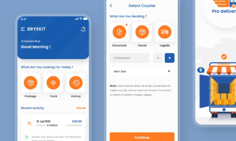 ProApps - Courier Delivery App Development