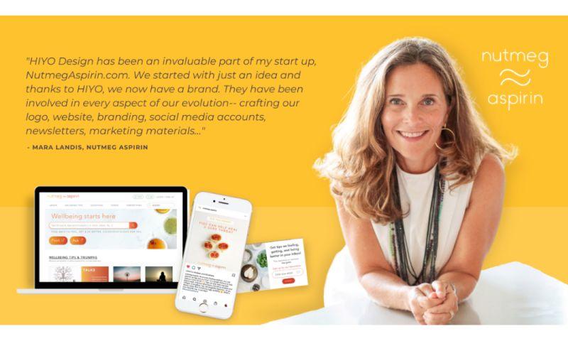HIYO DESIGN - Nutmeg Aspirin: Branding, Digital Ads, Social Media, E-Book, Web Design