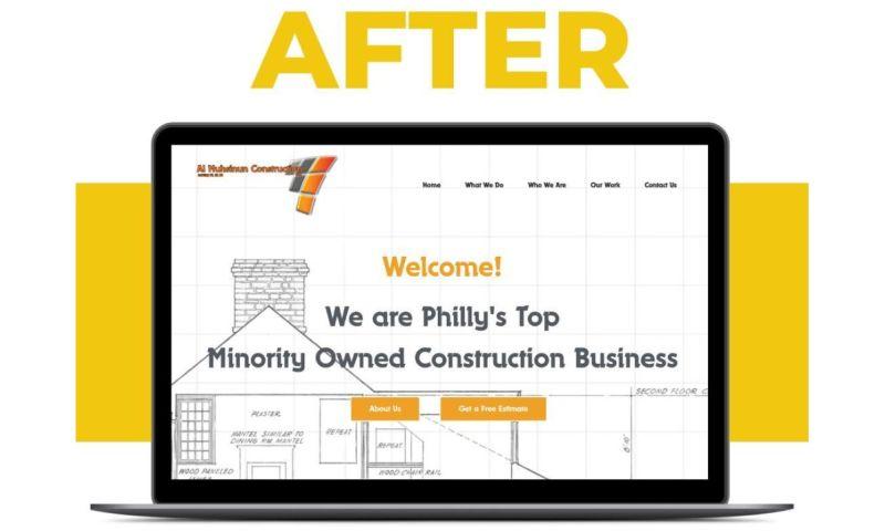 Blue Ladders Web Design - Al Muhsinun Construction Website Re-design