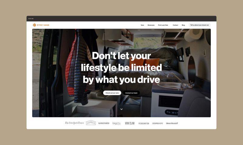 Merakite - SYNC Vans Website Development & Marketing
