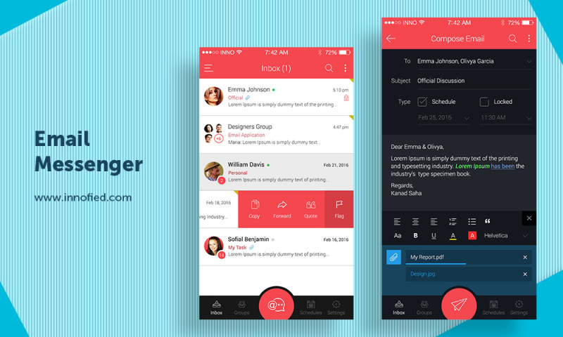 Innofied Solution - Instant Email Messenger