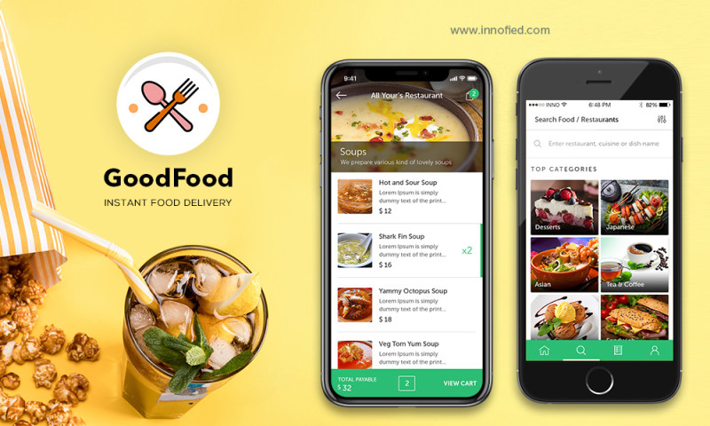 Innofied Solution - GoodFood – Food Delivery App