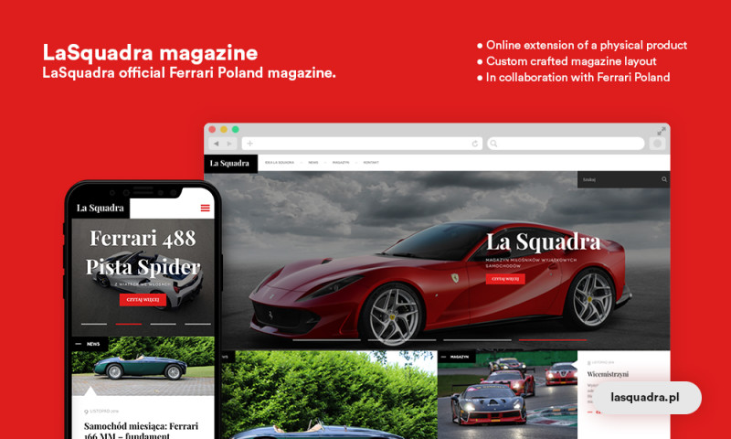 Time4 Digital - LaSquadra for Ferrari