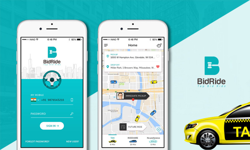 Innofied Solution - BidRide - Ride app with bidding features