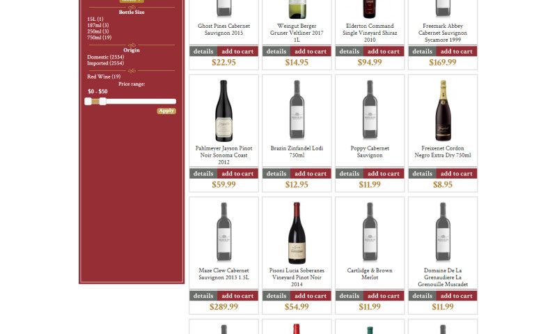 Exnovation Infolabs Pvt Ltd - On Page and Off Page SEO for www.missionliquor.com to Sell Liquor in California