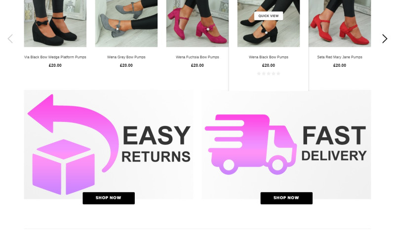 Exnovation Infolabs Pvt Ltd - Create Online Store for Ladies Shoe in England