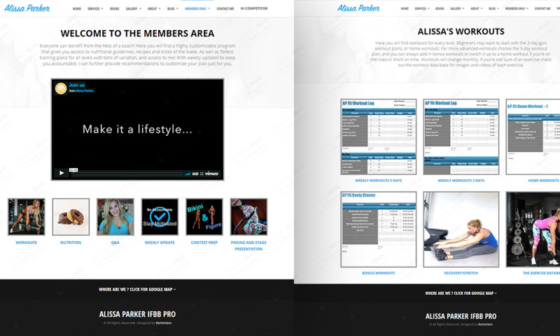 Natalie Minh Interactive - Alissa Parker Membership Website Design