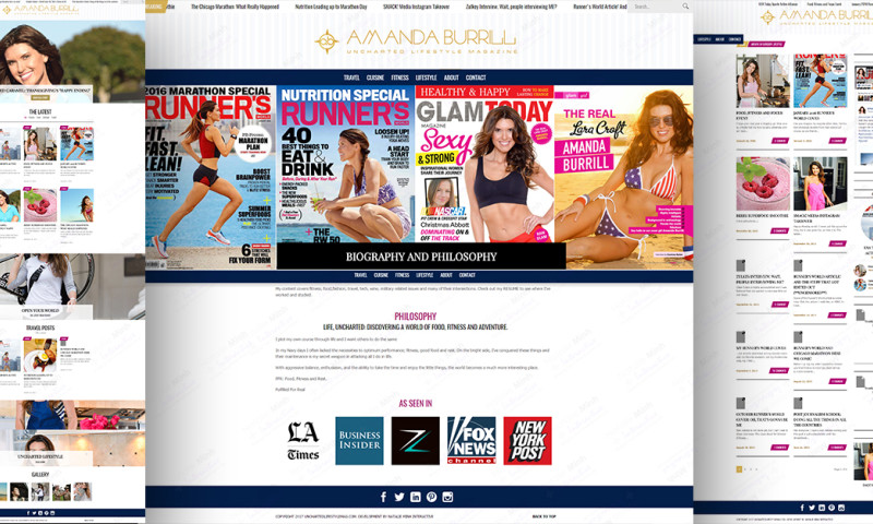Natalie Minh Interactive - Uncharted Lifestyle Mag Website Design