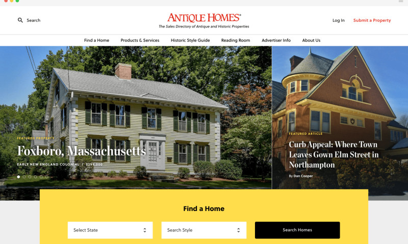 eCity Interactive - Modern Website Design, Antique Homes