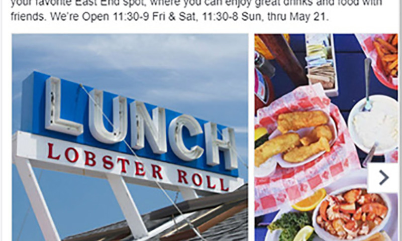 Public Relations and Marketing Group - Facebook Ad for Lobster Roll