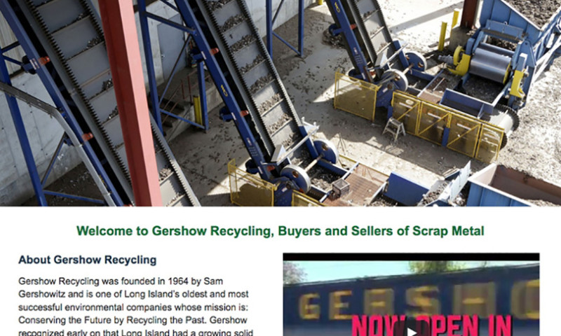 Public Relations and Marketing Group - Website Design for Gershow Recycling