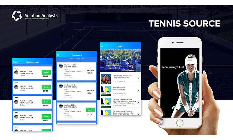 Solution Analysts Inc - Tennis Source App