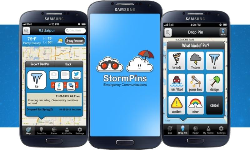 Octal IT Solution - StormPins - Crowd-Sourced Social Weather App