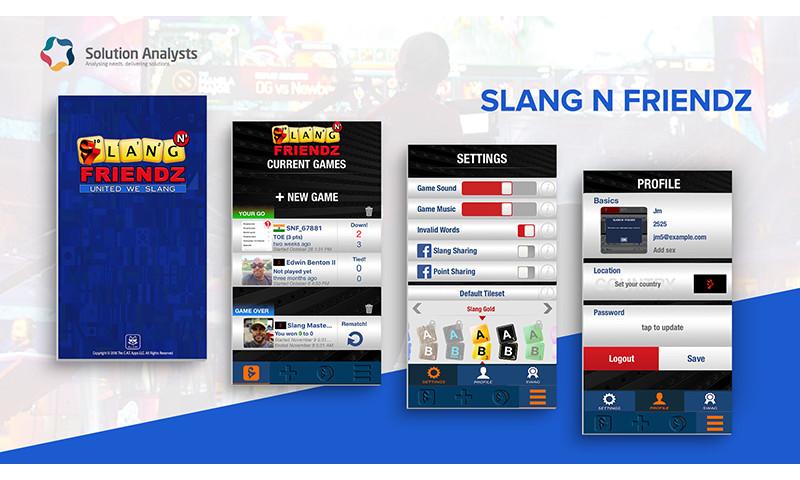 Solution Analysts Inc - Slang N Friendz Mobile Game