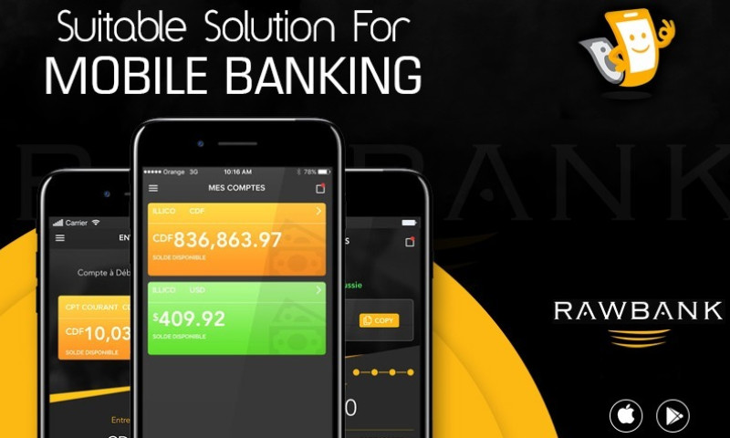 KONSTANT INFOSOLUTIONS - Banking App & Website for Most Stable Bank of DRC
