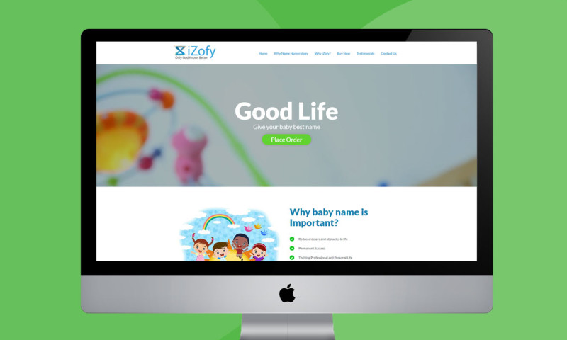 Webmoghuls - Web Design and Development for baby numerology
