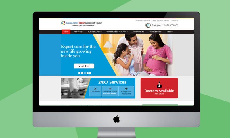 Webmoghuls - Responsive Website Design and Development for Hospital