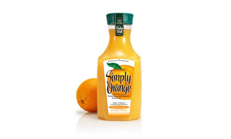 Lien Design - Simply Orange beverage label design