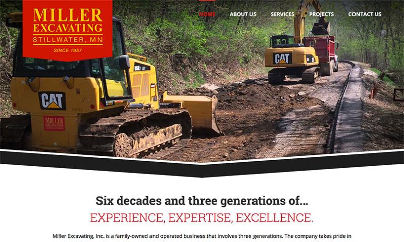 Artbox Creative Studios - Miller Excavating - Custom Website