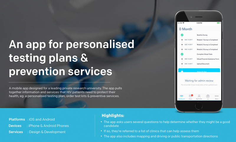 Robosoft Technologies - An app for personalised testing plans & prevention services