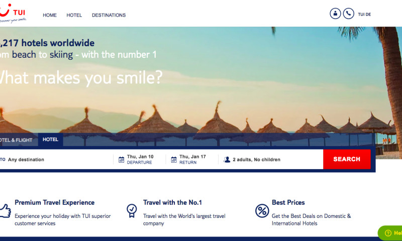 SRIJAN - New Drupal Website for TUI India