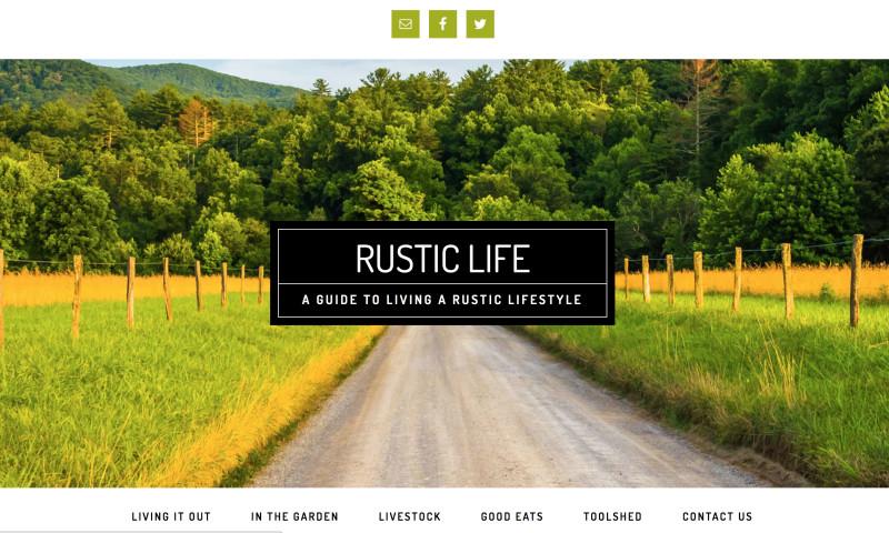 Point Taken Communications - Rustic Life Website Design