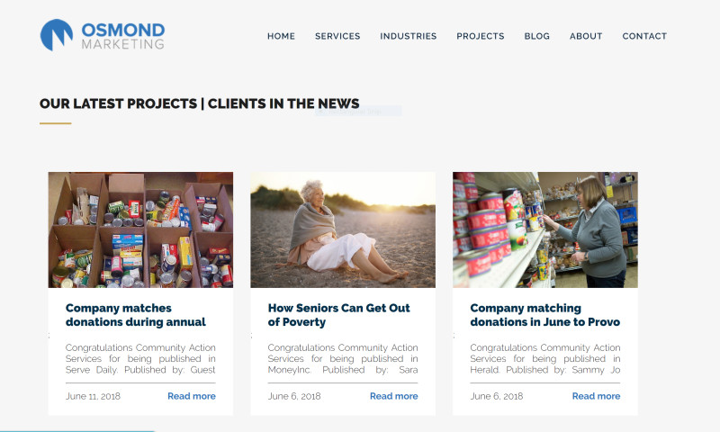 Osmond Marketing - Clients in the news
