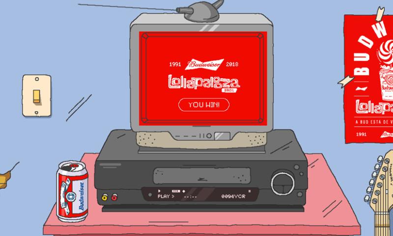Webcore Interactive - Budweiser Lollapalooza – Slap the Tape