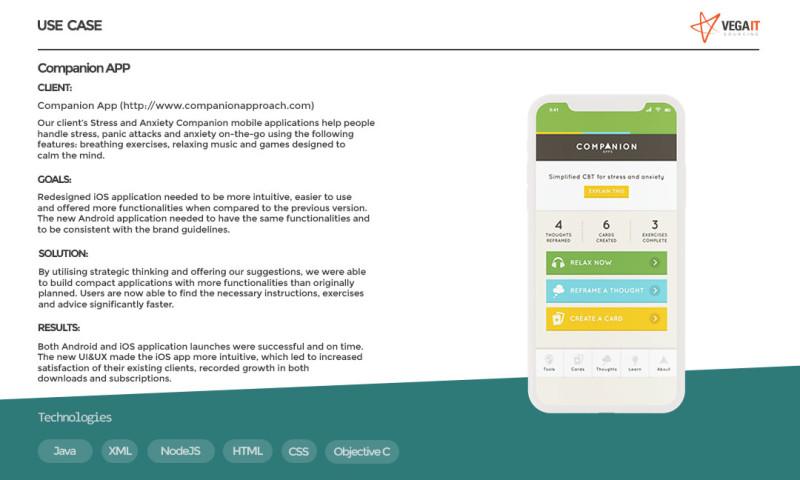 Vega IT Sourcing - Companion App