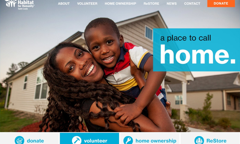 Matchbox Design Group - Habitat For Humanity St. Louis Website Redesign
