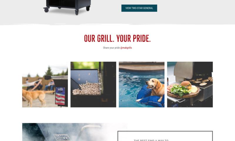 Matchbox Design Group - Mak Grills Website Redesign & Branding