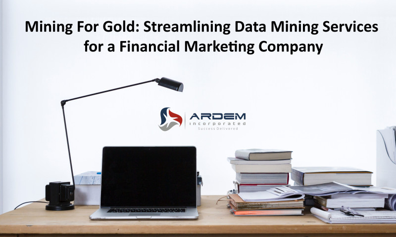 ARDEM Incorporated - Streamlining Data Mining Services for a Financial Marketing Company