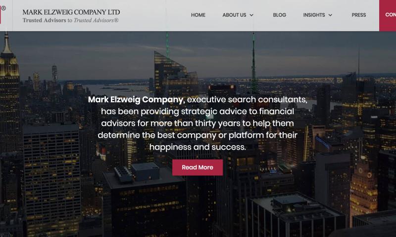 Blue Ocean Global Technology - Website Development for Mark Elzweig Company Ltd